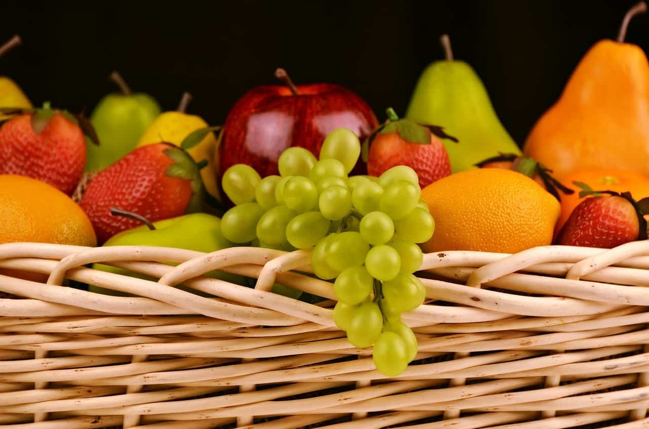 A basket filled with fruit